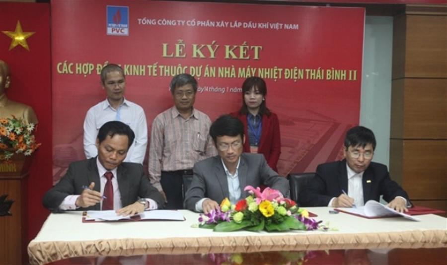 Hình ảnh đẹp Dự án NMNĐ Thái Bình 2: PVC ký 2 hợp đồng thầu tổng trị giá hơn 45 tỷ đồng